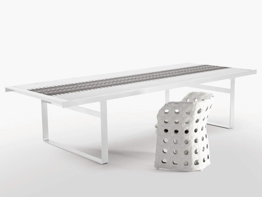 Rectangular porcelain stoneware garden table CANASTA | Garden table - B&B Italia Outdoor, a brand of B&B Italia Spa