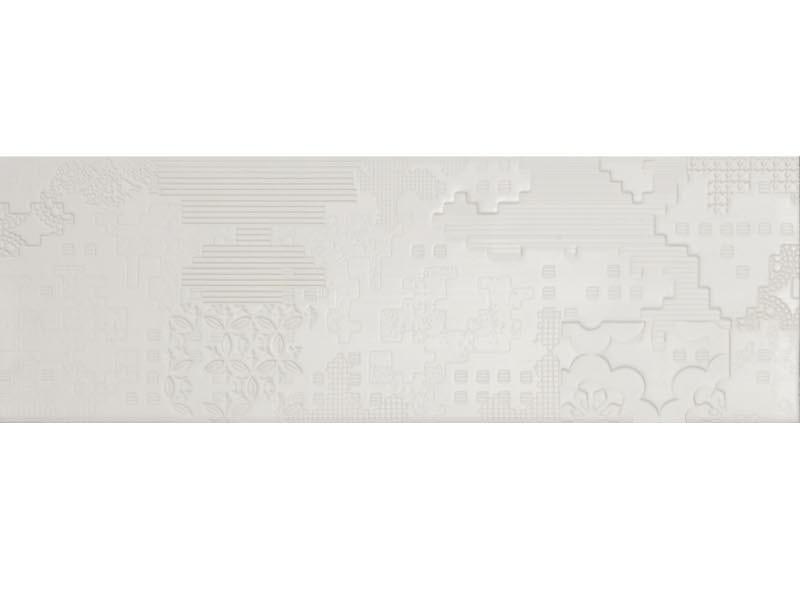 Indoor porcelain stoneware wall/floor tiles BAS-RELIEF PATCHWORK BIANCO - MUTINA