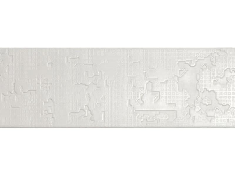 Indoor porcelain stoneware wall/floor tiles BAS-RELIEF CLOUD BIANCO by MUTINA