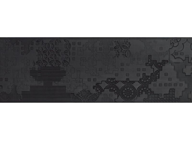 Indoor porcelain stoneware wall/floor tiles BAS-RELIEF PATCHWORK NERO - MUTINA