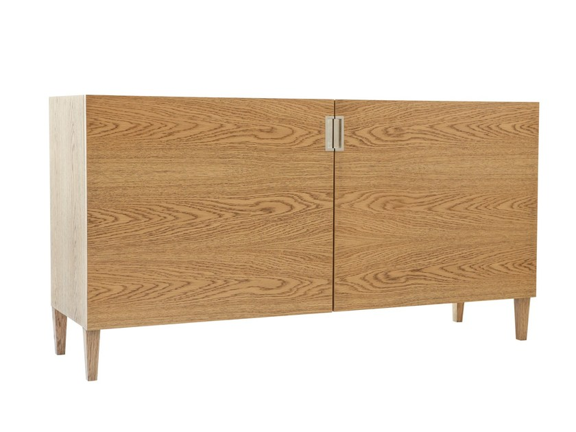 Wood veneer sideboard with doors DELHI | Wood veneer sideboard - AZEA