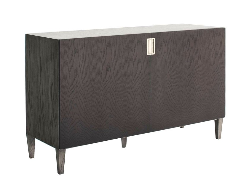 Lacquered wood veneer sideboard with doors DELHI | Wood veneer sideboard by AZEA
