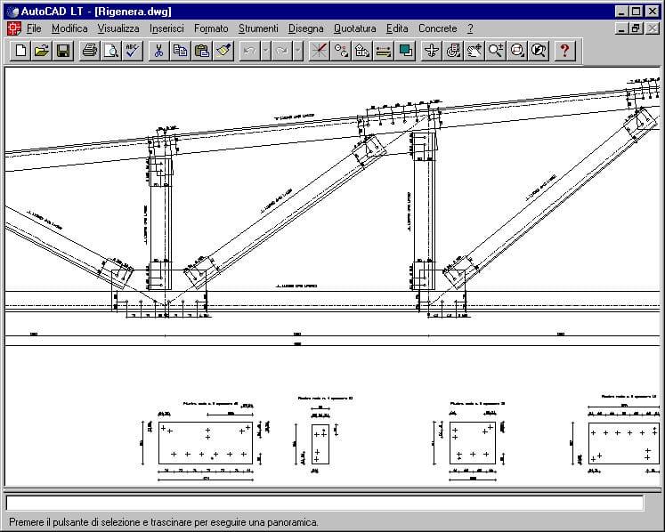 Calcolo strutture in acciaio sismicad acciaio concrete for Strutture metalliche dwg