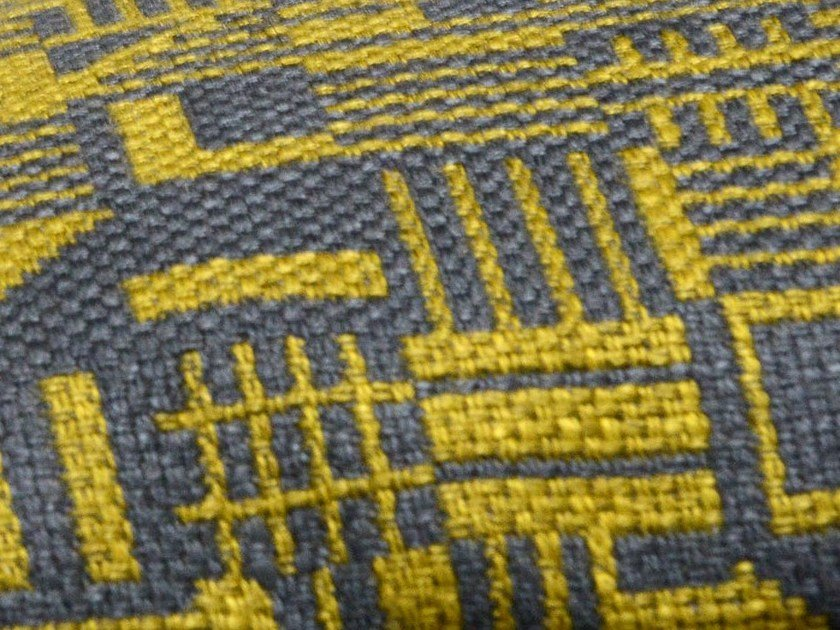Upholstery fabric with graphic pattern SEQUENCE by LELIEVRE