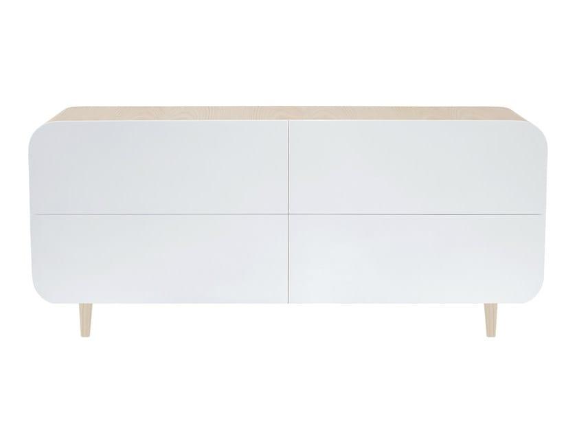 Wood veneer sideboard with doors MARLY | Sideboard with doors by AZEA