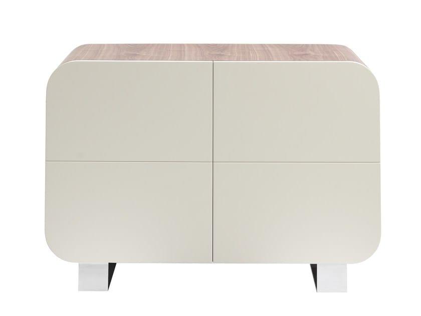 meuble de rangement laqué avec portes petit marly by azea design ... - Petit Meuble De Rangement Design