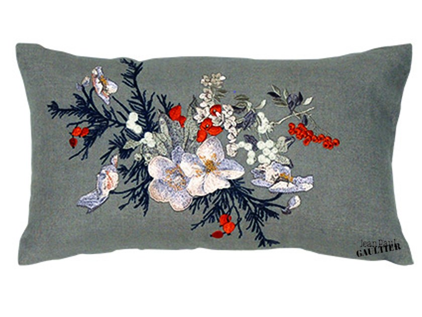 Rectangular cushion POÉSIE by LELIEVRE