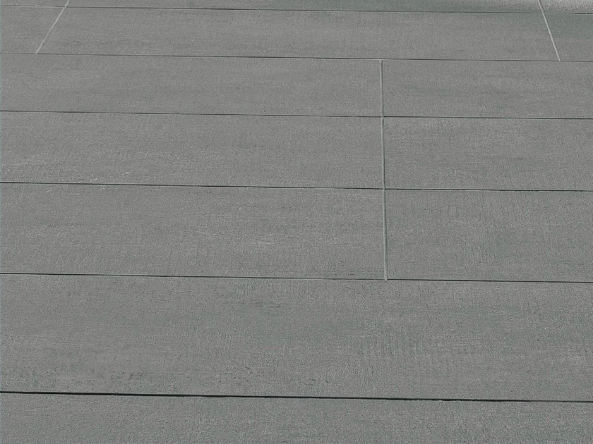 Porcelain stoneware wall tiles FLOW MEDIUM GREY - MUTINA