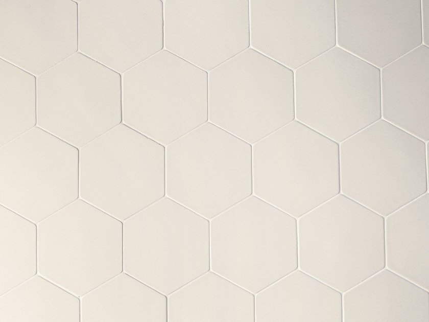 Porcelain stoneware wall tiles PHENOMENON HEXAGON BIANCO - MUTINA