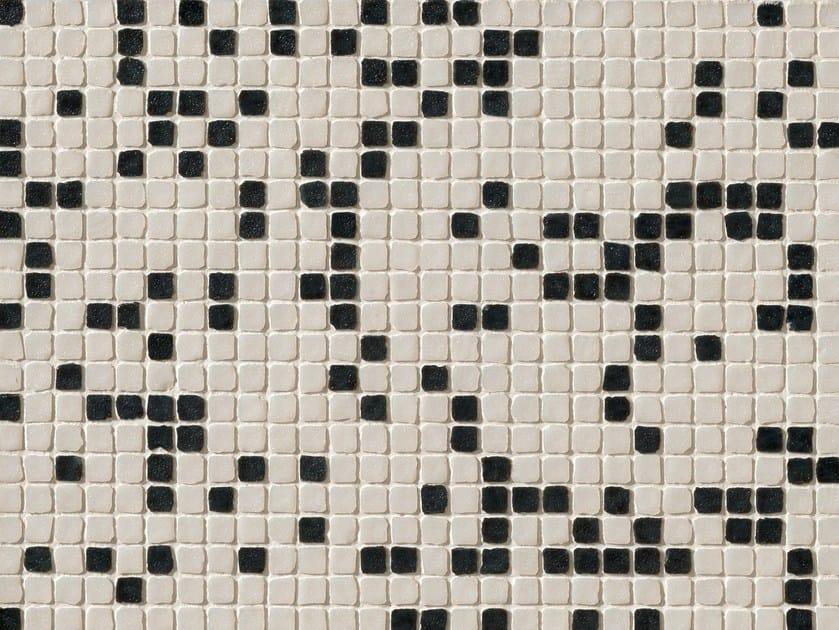 Porcelain stoneware mosaic DECHIRER GLASS MIX BIANCO-NERO - MUTINA