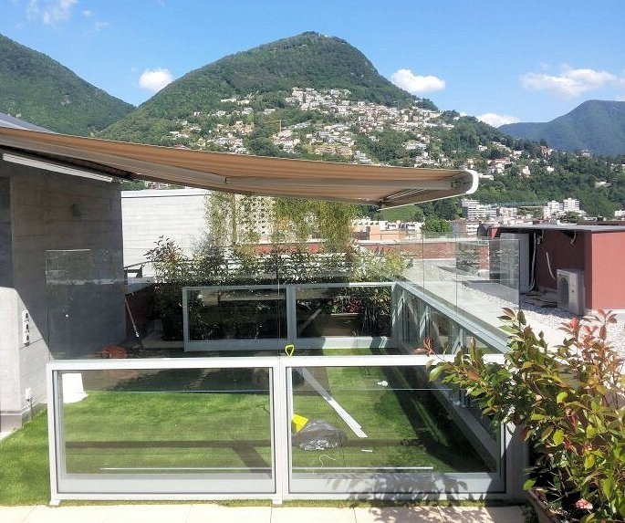 Gazebo in alluminio e vetro bellavista system gazebo gm morando - Gazebo terrazzo vento ...