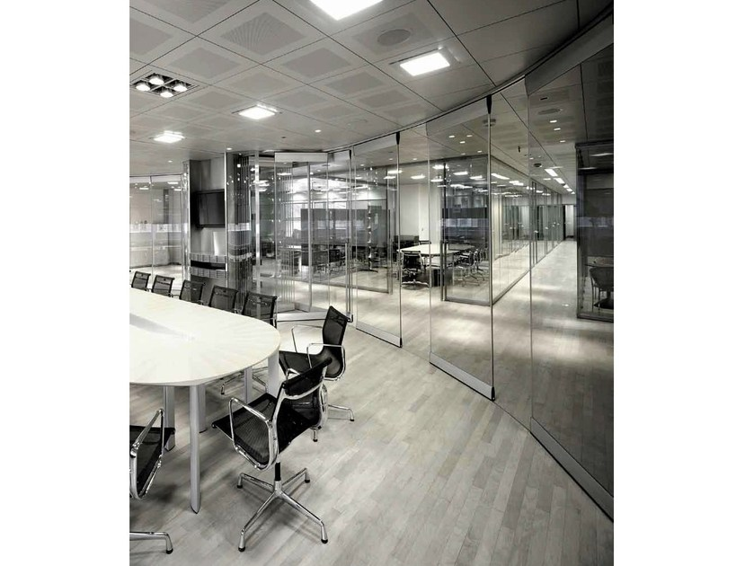 Sliding-wall system Sliding Wall Systems (STW) - Gilgen Door Systems