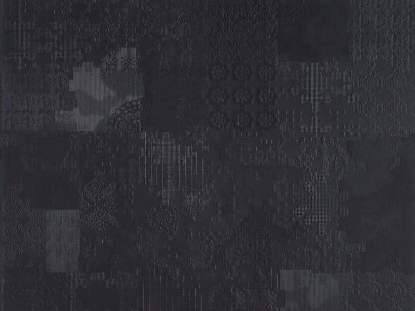 Indoor porcelain stoneware wall/floor tiles DECHIRER DECOR NERO - MUTINA