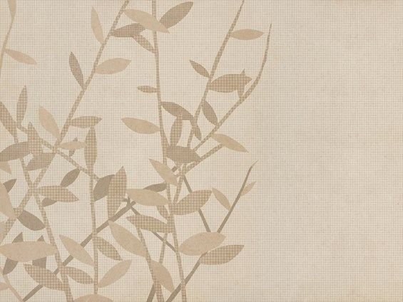 Wallpaper with floral pattern COUPURE by Wall&decò