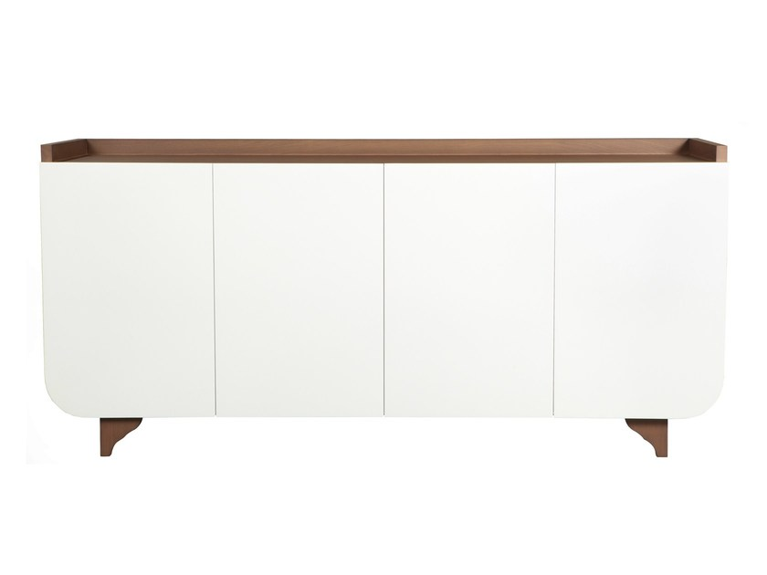 Lacquered oak sideboard with doors MADISON - AZEA