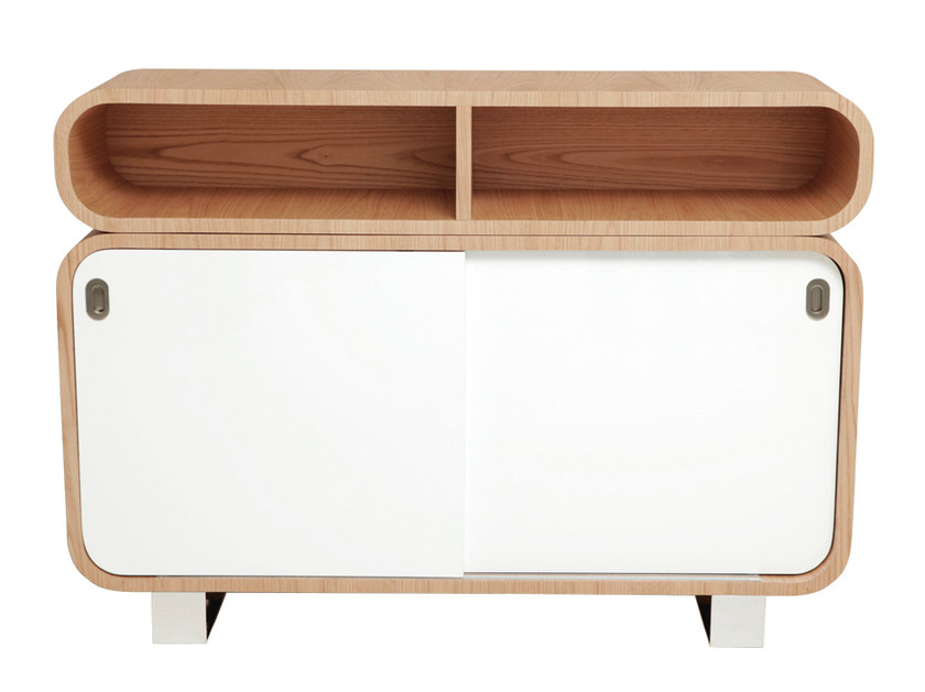 50s style sideboard with sliding doors MALLY | Sideboard with sliding doors - AZEA
