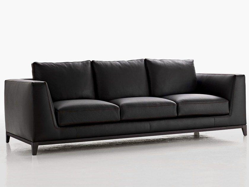 3 seater leather sofa LUTETIA | Sofa - Maxalto, a brand of B&B Italia Spa