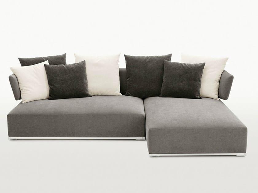 Corner fabric sofa AMOENUS | Corner sofa by Maxalto