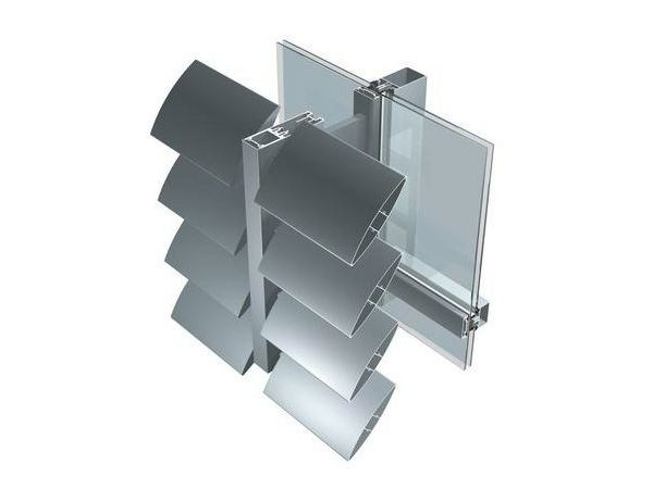Aluminium Sunscreening system for facade FRS by ALUK Group
