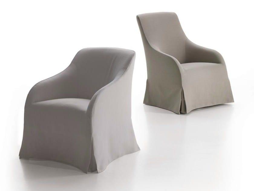 Upholstered fabric armchair with armrests AGATHOS - Maxalto, a brand of B&B Italia Spa