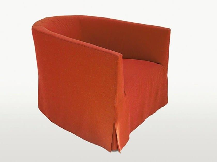 Fabric armchair with armrests CRONO | Armchair - Maxalto, a brand of B&B Italia Spa