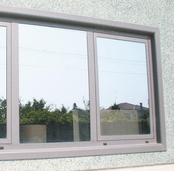 Finestra con doppio vetro in alluminio 45 n aluk group - Costruire una finestra in alluminio ...
