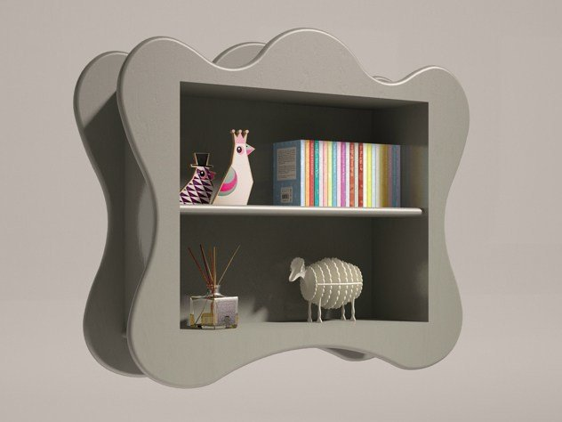 Open wall cabinet for children VOLUTE | Wall cabinet for children - Mathy by Bols