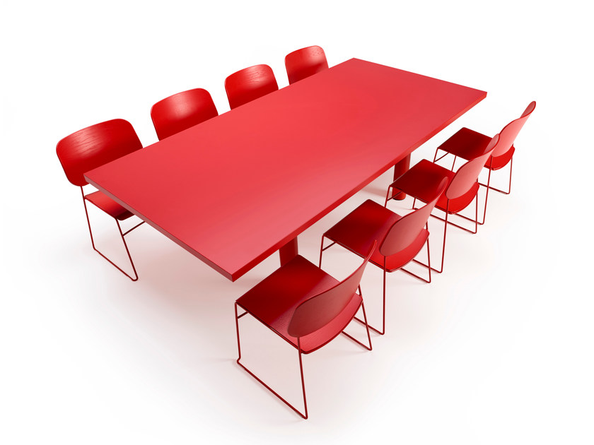 Rectangular meeting table XTRA LARGE | Meeting table - Offecct