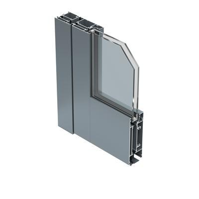 Exterior glass and aluminium entry door 56 ID - ALUK Group