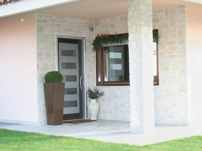Porta d 39 ingresso in alluminio e vetro per esterno 56 id - Porta esterna in alluminio ...