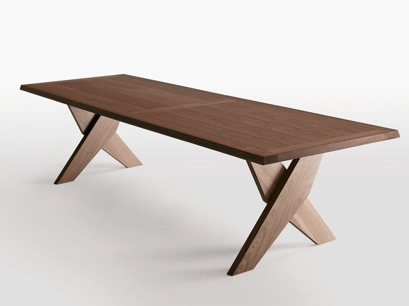 Rectangular solid wood table PLATO - Maxalto, a brand of B&B Italia Spa