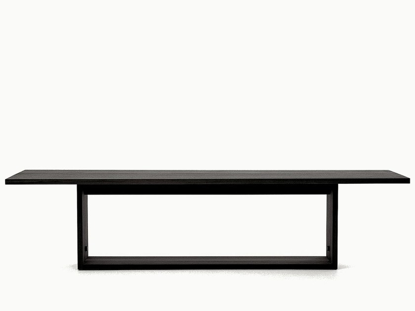 Rectangular solid wood table ARGO by Maxalto