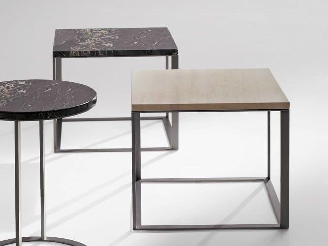 Square marble coffee table LITHOS | Square coffee table - Maxalto, a brand of B&B Italia Spa