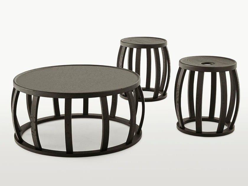 Round solid wood coffee table LOTO - Maxalto, a brand of B&B Italia Spa