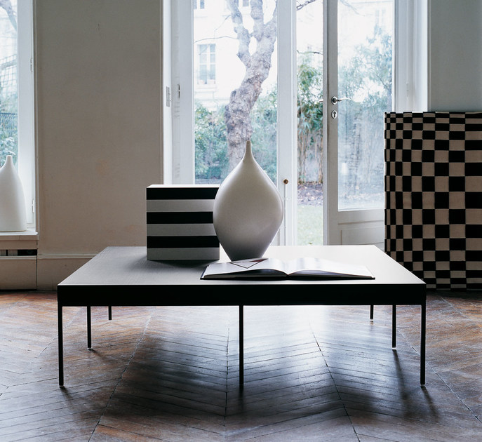 Low square solid wood coffee table EBE | Square coffee table - Maxalto, a brand of B&B Italia Spa