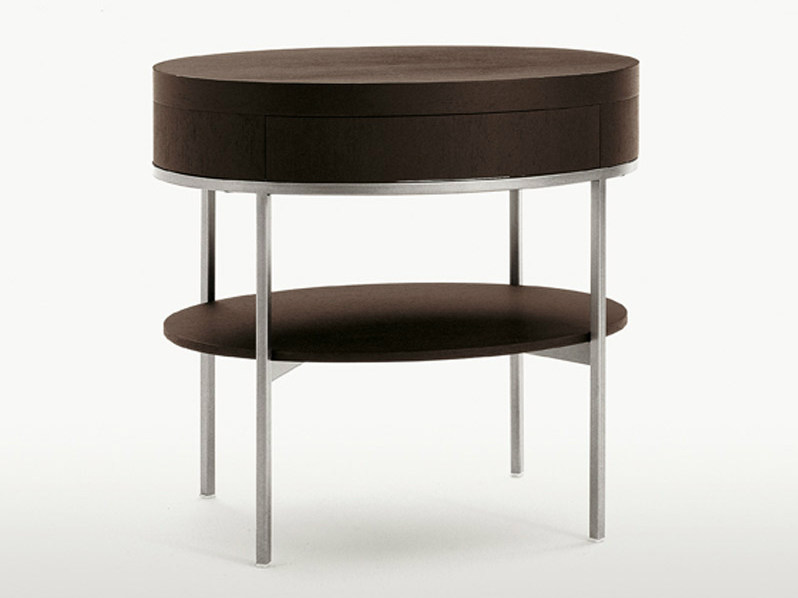 Oak coffee table / bedside table EBE | Oval bedside table - Maxalto, a brand of B&B Italia Spa