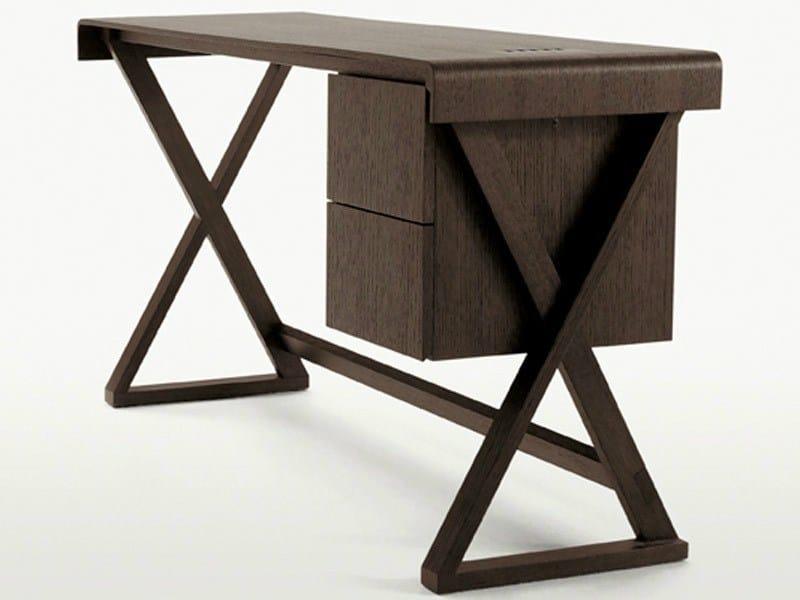 Solid wood writing desk with drawers SIDUS | Writing desk - Maxalto, a brand of B&B Italia Spa