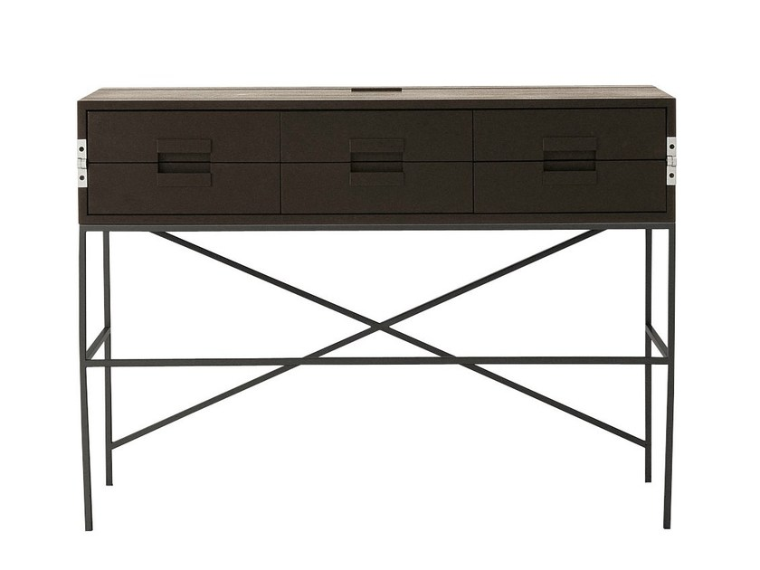 Solid wood writing desk with drawers ELIOS | Writing desk - Maxalto, a brand of B&B Italia Spa