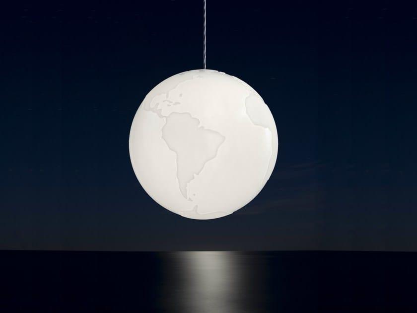 Polyurethane pendant lamp PLANET EARTH by Formagenda