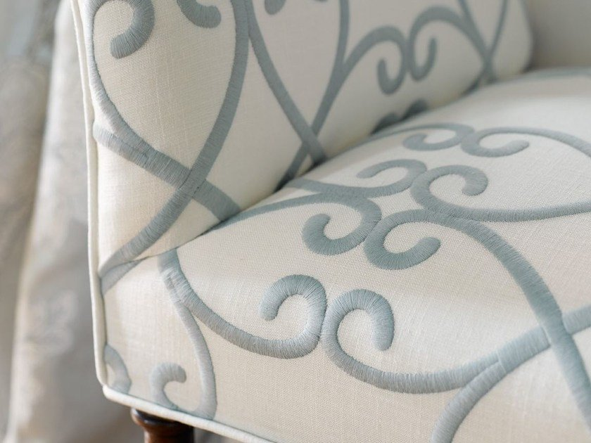 Embroidered cotton upholstery fabric BRITANNIA - Zimmer + Rohde