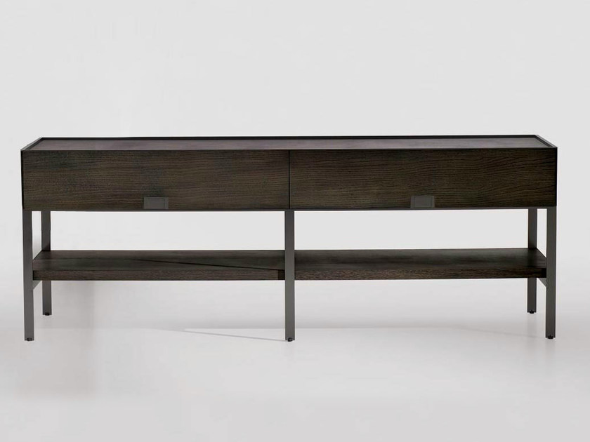 Rectangular solid wood console table with drawers ERACLE | Console table - Maxalto, a brand of B&B Italia Spa