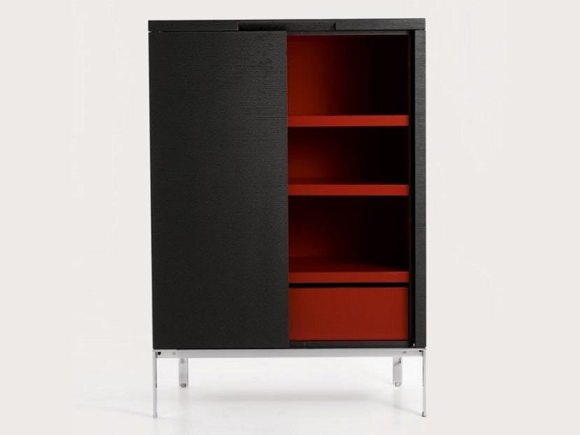 Wooden highboard with doors MIDA 2010 - Maxalto, a brand of B&B Italia Spa