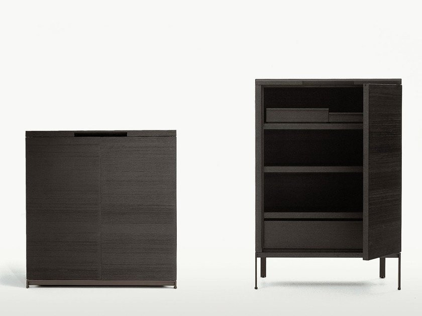 Wooden highboard with doors MIDA | Highboard - Maxalto, a brand of B&B Italia Spa