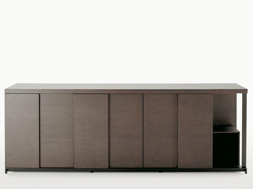 Wooden sideboard with doors CRESO | Sideboard by Maxalto