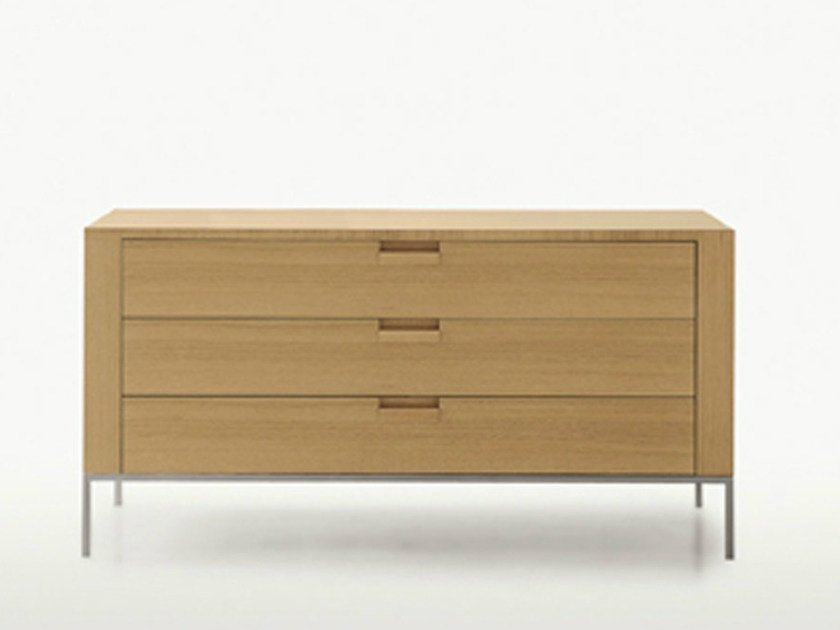 Free standing wooden chest of drawers TITANES | Chest of drawers by Maxalto