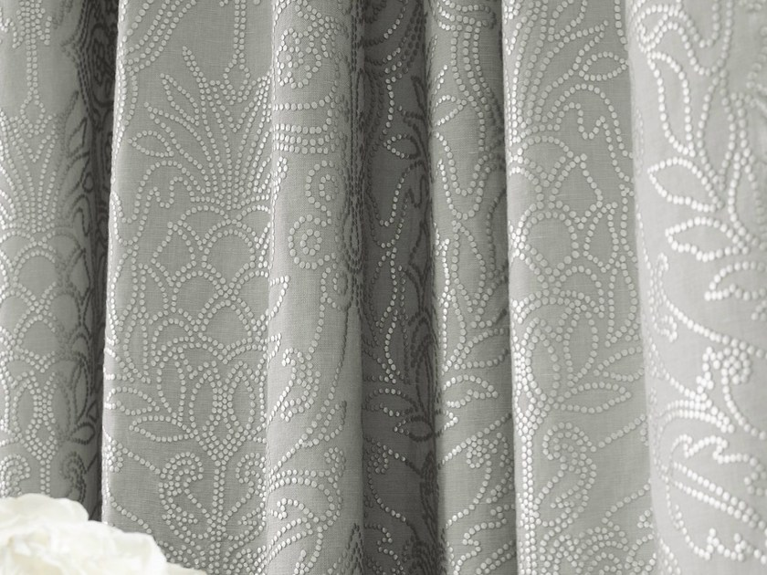 Printed linen fabric CORDELIA | Fabric for curtains - Zimmer + Rohde