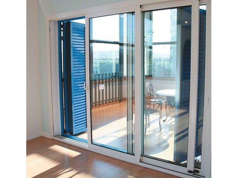 Porta finestra con doppio vetro scorrevole in alluminio sc 70 aluk group - Finestre a doppio vetro ...