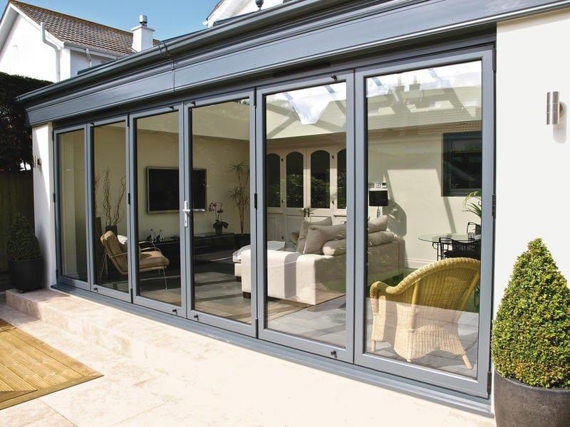 Porta-finestra a libro a taglio termico in alluminio BSF70 - ALUK Group