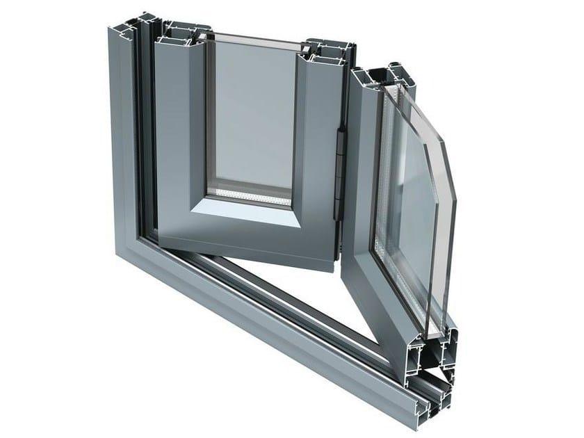 Porta finestra a libro a taglio termico in alluminio bsf70 aluk group - Aeratore termico per finestra ...