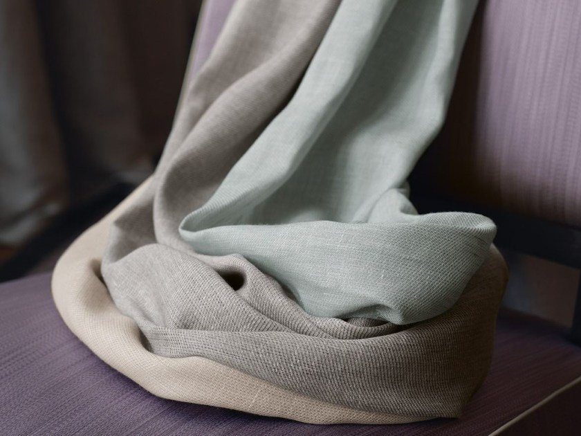 Solid-color linen fabric LINUM by Zimmer + Rohde